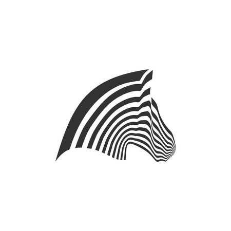 Zebra icon vector illustration Çizim