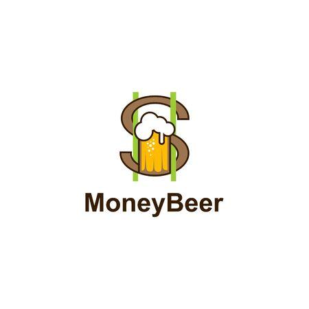 Money beer vector illustration