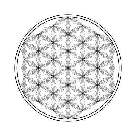 Blume des Lebensvektorikons