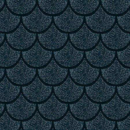 Gold Blue scale vector pattern background with glitter effect