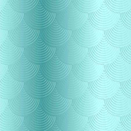 Turquoise  fish scale vector pattern background with glitter effect