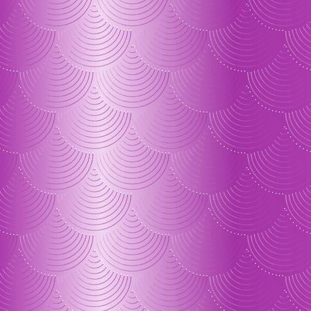 Pink fish scale vector pattern background with glitter effect