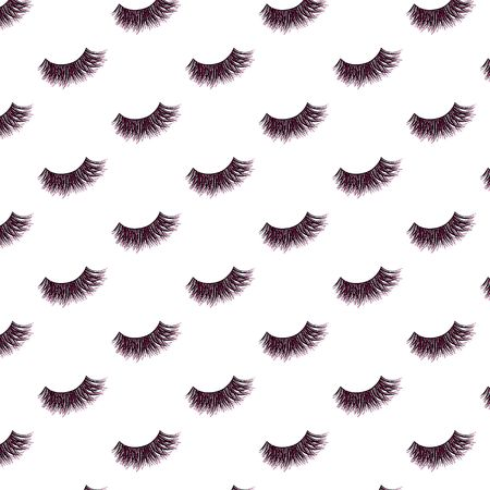 Lashes vector pattern with pink glitter effect  イラスト・ベクター素材