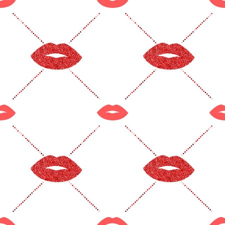 Lips with glitter vector pattern Illustration