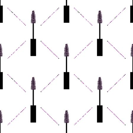 Mascara with glitter vector pattern