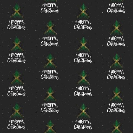 Merry Christmas and Christmas tree with Jamaica flag seamless vector pattern