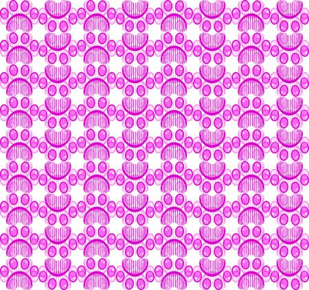 Paw print seamless vector pattern 写真素材 - 134898972