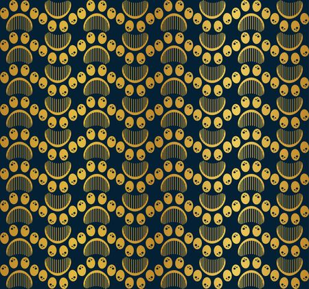 Paw print seamless vector pattern 写真素材 - 134898974
