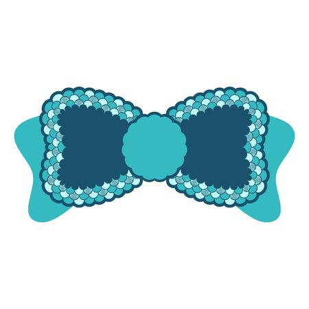 Bow with mermaid scales vector illustration  イラスト・ベクター素材