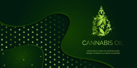 Cannabis droplet with cannabis leaves vector background.Cannabis oil illustration  イラスト・ベクター素材