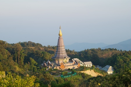 Phummidol pagoda in doi inthanon photo