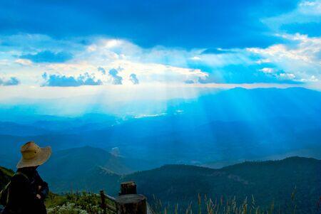 high park: visto alla bellezza cielo blu Archivio Fotografico