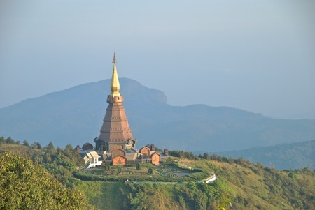 doi: Sirikit pagoda in doi inthanon