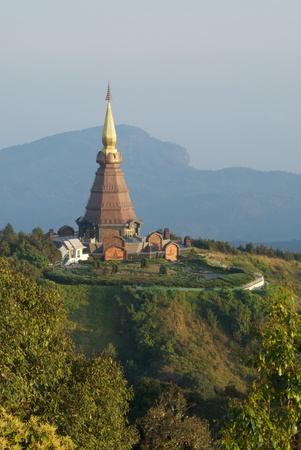 Sirikit pagoda in doi inthanon photo