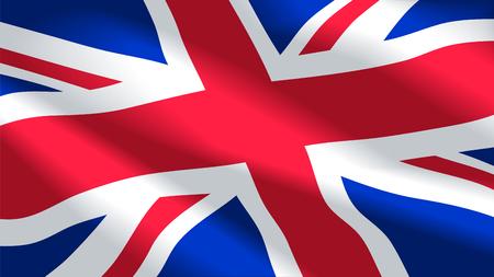 Vector image of United Kingdom flag background. Illustration. Great Britain. Britannia. UK. Illusztráció