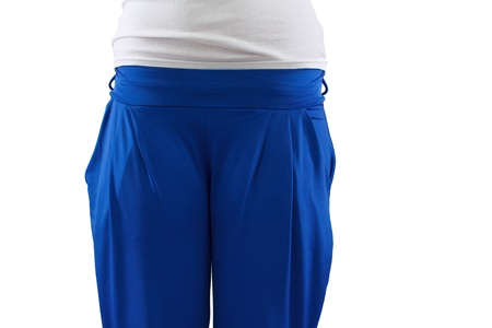 tracksuit: Female body, tracksuit closeup, isolated, empty space