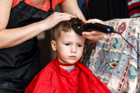 3 year old: Little 3 year old boy, haircut