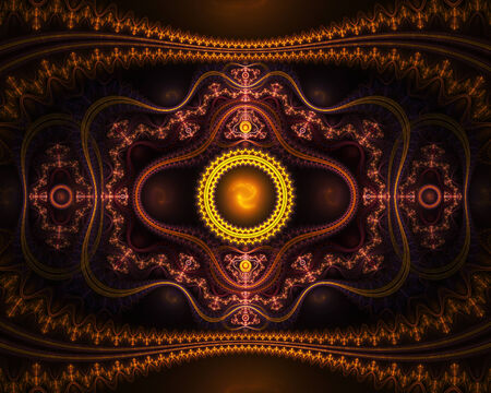 chaos theory: Oriental fractal artwork, abstract background