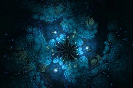 matter: Donkere materie fractal, abstracte achtergrond Stockfoto