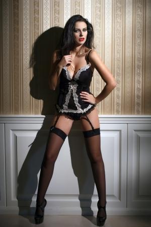 Sensual brunette woman photo