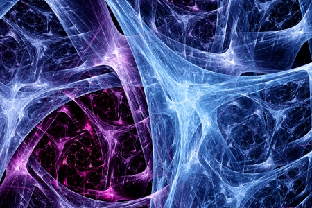 Colorful synapse system, computer generated fractal background photo