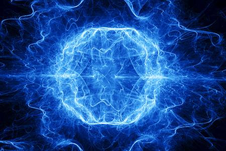 Ball lightning, computer generated abstract fractal background Reklamní fotografie