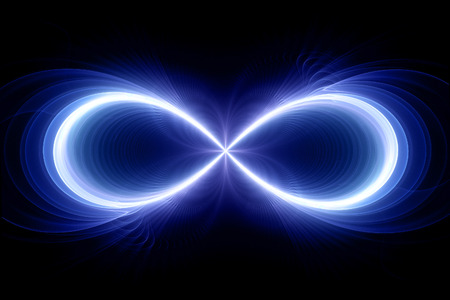 Infinity sign, computer generated fractal background