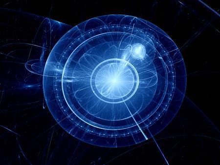 plutonium: Core energy fractal, computer generated background Stock Photo