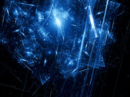 Broken time in space, computer generated abstract fractal background photo