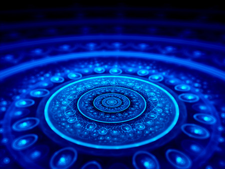 Spiritual blue star gate, computer generated abstract background photo