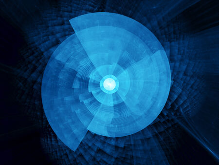 Time travel machine, computer generated abstract background