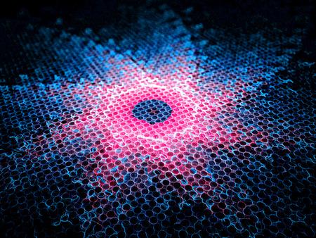weerzinwekkend: Afstotende kracht, de computer gegenereerde fractal achtergrond