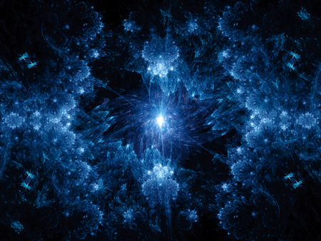 Galactic center, computer generated fractal background Stock Photo
