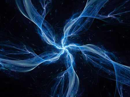 galactic: Blue space object, computer generated fractal background