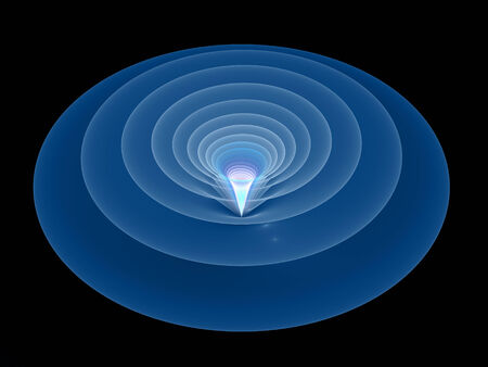 wormhole: Tunnel in space, computer generated fractal background