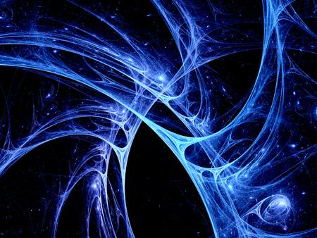 cellule nervose: Colorful sistema sinapsi astratto, generato dal computer frattale sfondo