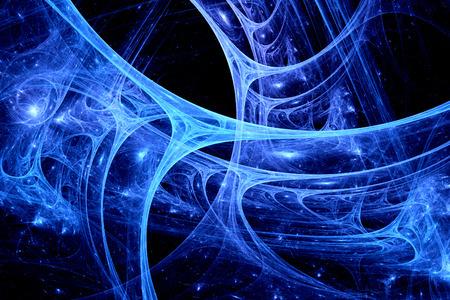Blue synaps systeem, computer gegenereerde fractal achtergrond Stockfoto - 27106005