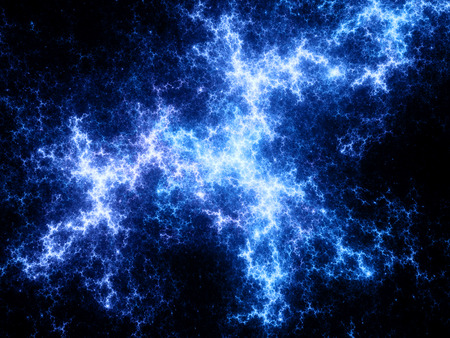 Abstract blue plasma in space background photo