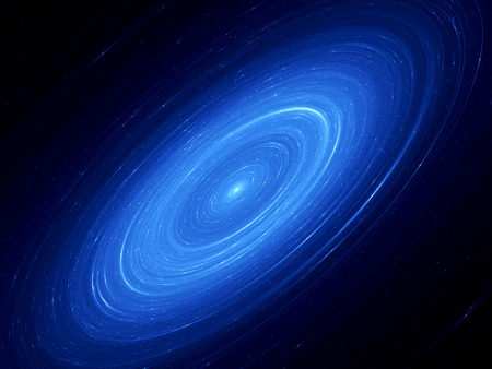 orbits: Beautiful glowing Andromeda galaxy, abstract background