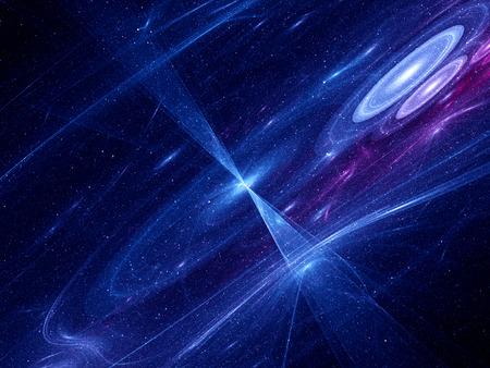 Zwart gat in de ruimte, computer gegenereerde fractal Stockfoto