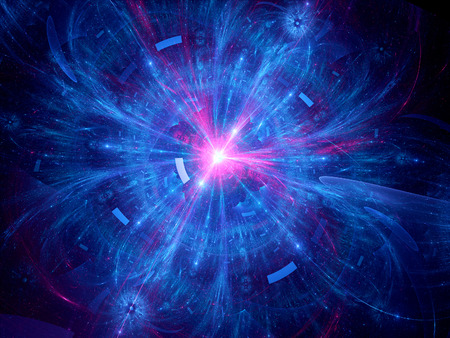抽象的な核融合コンピューター生成背景 写真素材