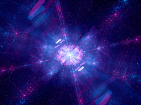 hadron: Dimensional wrap, computer generated fractal background Stock Photo