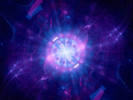 hadron: Multidimensional gate, computer generated fractal background Stock Photo