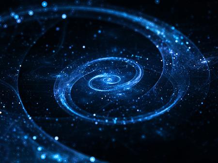 gravedad: Galaxia espiral en el espacio profundo, el resumen de antecedentes