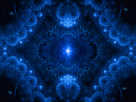 genesis: Blue magic genesis abstract background Stock Photo
