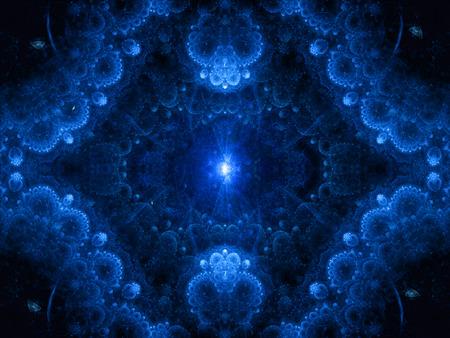Genèse magie bleu fond abstrait Banque d'images