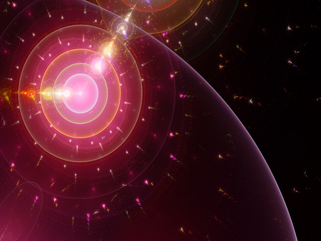 artwork: Fractal artwork, abstract space clock, time machine