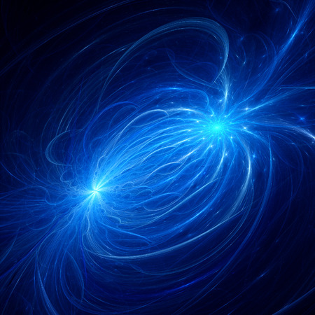 quantum: Electromagnetic plasma field, computer generated fractal background Stock Photo