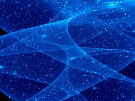 interstellar: Starry night sky, computer generated fractal background