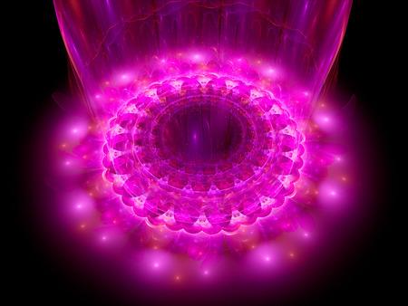 microcosm: The heart of purple mandala, fractal background